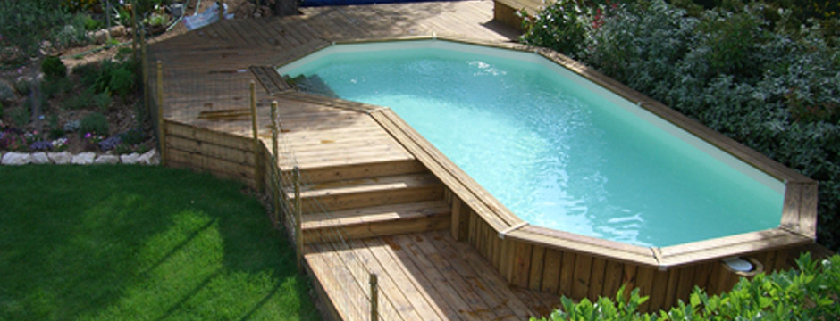 piscine imitation bois pas cher d co cloture piscine en